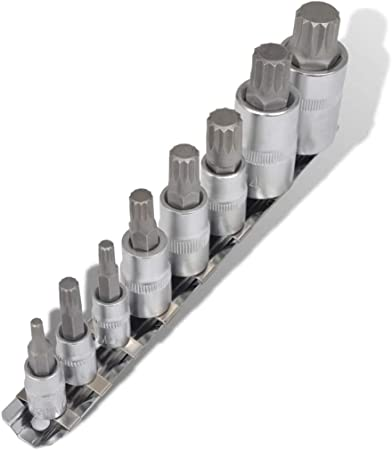 """Steckschlüssel-Satz Innen-Vielzahn-Schlüssel XZN Set Nüsse M4-M12 1//4/"""" 6-tlg."""