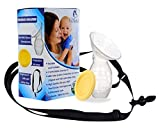 Motech Manual Breast Pump for baby Breastfeeding. How to Increase Milk Supply, Ensure Baby Development and Free Yourself More time Each Day. Now With an Original Anti Milk Spill Safety Strap.