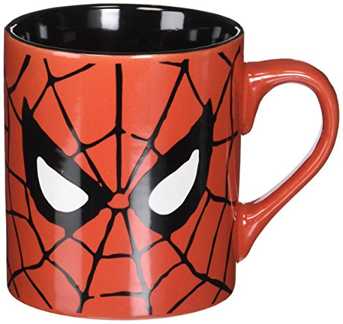 Silver Buffalo MC7032 Marvel Comics Spider-Man Eyes Ceramic Mug, 14-Ounces