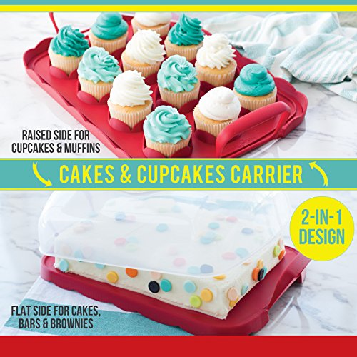 011172500601 - Nordic Ware Cakes and Cupcakes Carrier, Red carousel main 3
