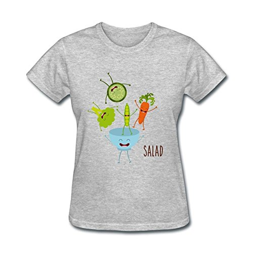 JustLikeSun Women's Vegetables Salad Cartoon T Shirt