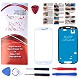 ProKit for Samsung Galaxy Marble White Replacement Screen Glass Lens Kit S3