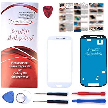 Samsung Galaxy S3 Glass Screen Black Replacement Kit with DM Tools