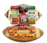 Fathers Day Meat and Cheese Gift Assortment on a Football Cutting Board | Size Medium