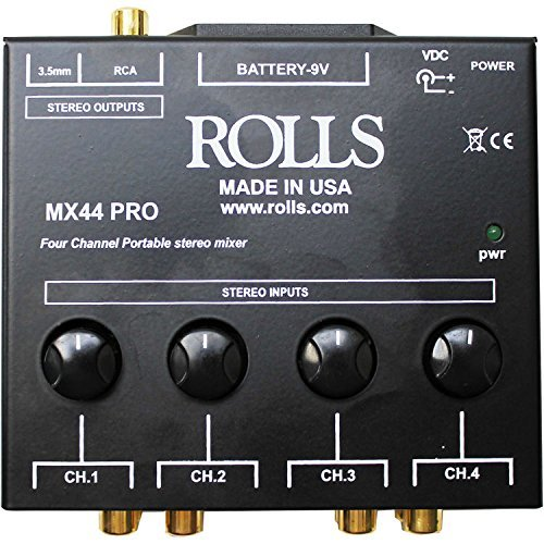 rolls Mixer - Powered, BLACK (MX44 Pro)