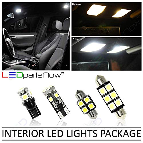 LEDpartsNow Interior LED Lights Replacement for 2014-2018 Chevy Corvette C7 Accessories Package Kit - Replaces Trunk & Tags (4 Bulbs), WHITE