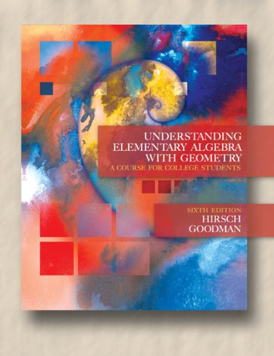 Understanding Elementary Algebra with Geometry: A Course for College Students Pdf