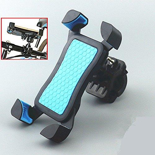Support de Téléphone Moto Vélo Guidon Universel Anti-vibrations, Fall Prevention Berceau Collier Avec Rotation 360 Pour 3,5 à 6,5 pouces GPS pour Smartphones et Autres Appareils