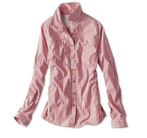 Orvis Women's River Guide Tech Gingham Shirt, Paprika, Medium