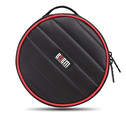 BUBM Nylon 32 Capacity Padded CD/DVD/Blu-Ray Carry Wallet, Black
