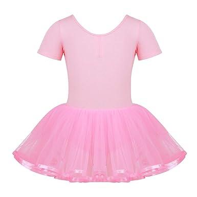iiniim Maillot Ballet Niña Manga Corta Vestido Princesa ...