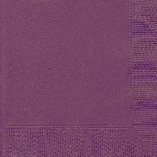 Dark Purple Beverage Napkins, - Shower Gras Mardi Bridal