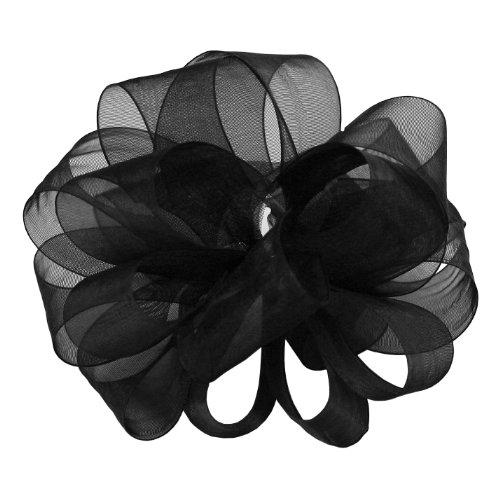 "Offray Berwick LLC 135907 Berwick Simply Sheer Asiana Ribbon -7/8"" W X 100 yd - Black Ribbon"