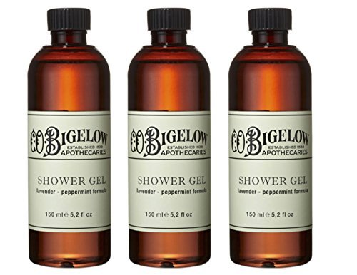(C.O. Bigelow Lavender and Peppermint Shower Gel 150ml, Set of 3 )