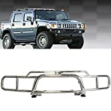 hummer grill - For 2003-2008 2009 Hummer H2 Chrome Stainless Brush Grille Guard Grill Amazon#