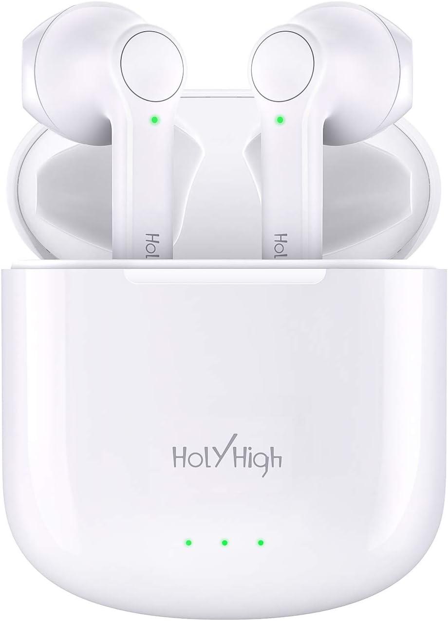 Einfache Kopplung BT 5.0 f/ür Alle Smartphones Touch Control In Ear Kopfh/örer Kabellos mit Klarem Anruf HolyHigh Bluetooth Kopfh/örer Wireless Kopfh/örer Sport mit 25 Std Spielzeit mit Ladecase
