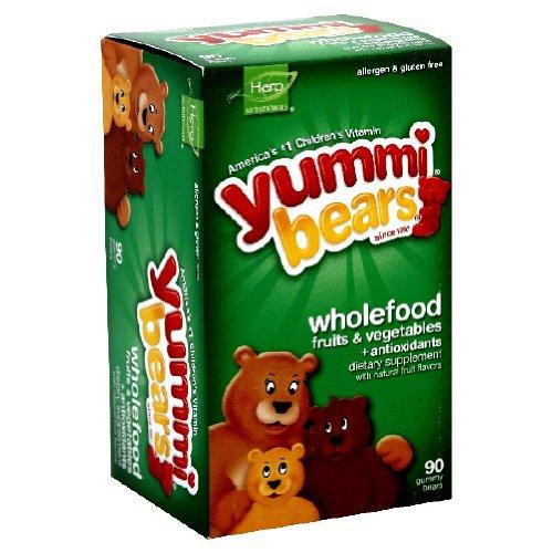 Yummi Bears macrobiotique & Antioxydants, 90-Count Gummy Bears