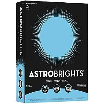"Astrobrights Color Paper, 8.5"" x 11"", 24 lb/89 gsm, Lunar Blue, 500 Sheets (21528)"