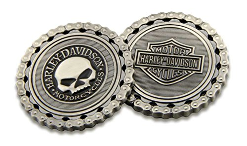 - Harley-Davidson Skull/Bar & Shield Chain Challenge Coin, 1.75 inch 8005184