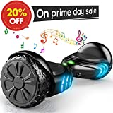 "TOMOLOO Hoverboard with Bluetooth and LED Lights Two-wheel Self Balancing Scooter with UL2272 Certified, 6.5"" Wheel Electric Scooter for Kids and Adult"