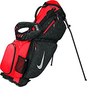 Nike 57867 Air Sport Carry III Stand Golf Bag, Black & Crimson