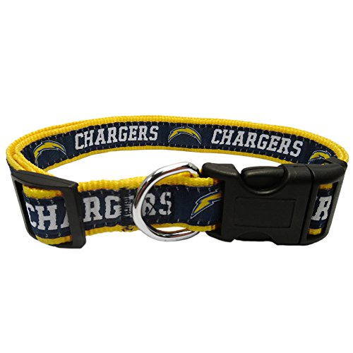 Pets First SDC-3036-LG NFL Los Angeles Chargers Dog Collar, Large, NFL Team Color