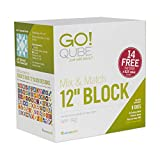 """AccuQuilt GO! Qube Mix & Match 12"""" Block with GO! Square-6 ½"""" (6"""" Finished), GO! Square-3 ½"""" (3"""" Finished), GO! Half Square Triangle-6"""" Finished Square and"""