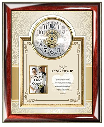 Amazon.com: Parents Anniversary Gift Wall Clock Mother Father Poetry ...