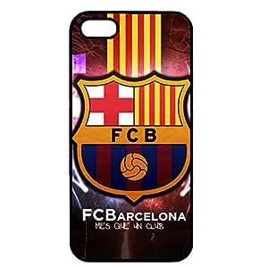 Retro Style FCB Football Club Barcelona Funda for Iphone 5/Iphone 5s Black Hard Case