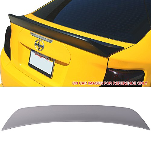 Pre-painted Trunk Spoiler Fits 2011-2016 Scion tC   RS Style Painted Cement Gray Metallic # 1H5 ABS Rear Spoiler Wing Deck Lid Other Color Avaliable by IKON MOTORSPORTS   2012 2013 2014 2015