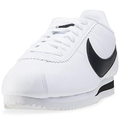 best website a2155 ca3ff Nike WMNS Classic Cortez Leather, Chaussures de Sport Femme, Blanc  Black White 101