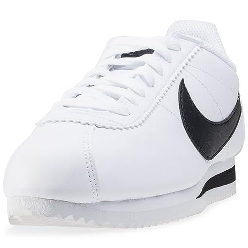 finest selection b0b0e 12231 Nike Classic Cortez Leather, Scarpe Running Donna, Bianco Black White 101,  44