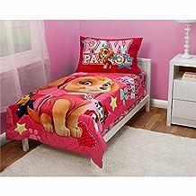 Paw Patrol Skye Best Pups Ever 4 Piece Toddler Bed Set, Pink
