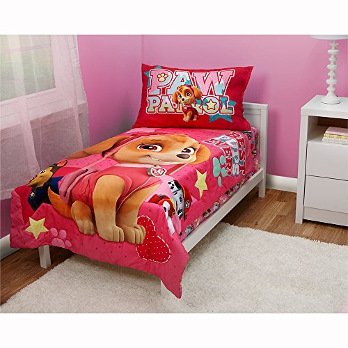 Toddler Set - Paw Patrol Skye Best Pups Ever 4 Piece Toddler Bed Set, Pink