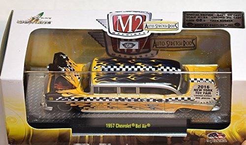 M2 Machines - Auto-Stretch Rods - 2016 NY Toy Fair Exclusive - 1957 Chevrolet Bel Air (Taxi Rods)