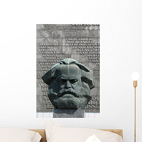 Wallmonkeys Karl Marx Statue Wall Mural Peel and Stick Graphic (24 in H x 16 in W) WM132039 (Furniture Karl's)