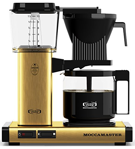 Technivorm Moccamaster 59163 Moccamaster Coffee Maker, 40 oz, Brushed Brass