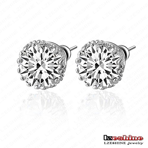Prime Leader Small Round Stud Earrin Multi Pron8Mm 2Ct Swiss Cz Diamond Earring Studs Earrinjewelry Cer0001-B