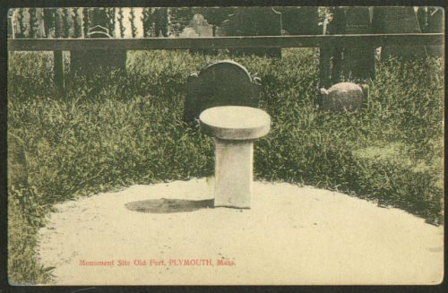 Monument Site Old Fort Plymouth MA postcard 1910s