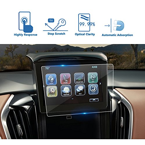 [UPGRADE] 2018 Chevrolet Traverse 8-Inch MyLink Car Navigation Screen Protector, LFOTPP Clear TEMPERED GLASS Infotainment Display In-Dash Center Touch Screen Protector Anti-Scratch by LFOTPP