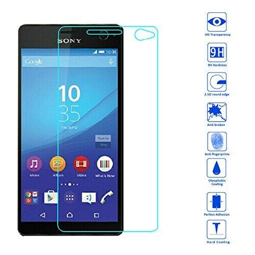 OKCS® TPU Hülle Case Schutzhülle für Sony Xperia C4 inklusive Wunderglass Panzerglas Screenprotector Schutzfolie Displayschutz Glasprotector