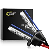 Tools & Hardware : CougarMotor HID Xenon Headlight Replacement Bulbs - H1 - 35W 6000K (Pack of two bulbs) - 2 Yr Warranty