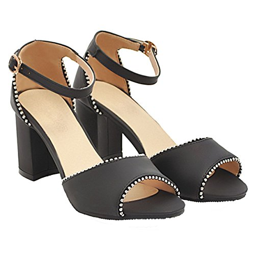 JYshoes Cheville Bride Femme JYshoes Noir Bride rwnBvSrPq