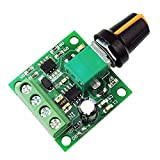 uniquegoods 1.8v 3v 5v 6v 7.2v 12v 2A 30W DC Motor Speed Controller (PWM) 1803BK Adjustable Driver Switch