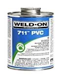 Weld-On 10121 Pint 711 Heavy Duty PVC Cement, Gray, 1-Pack