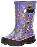 kids bee rain boots - Bogs Skipper Kids Waterproof Rubber Rain Boot for Boys and Girls, Bees Print/Lavender/Multi, 9 M US Toddler