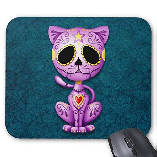 (Purple and Blue Zombie Sugar Kitten Mouse Pad Rectangle Non-Slip Rubber Personalized Mousepad Gaming Mouse Pads 18 x 22 cm(Pattern: Print) )