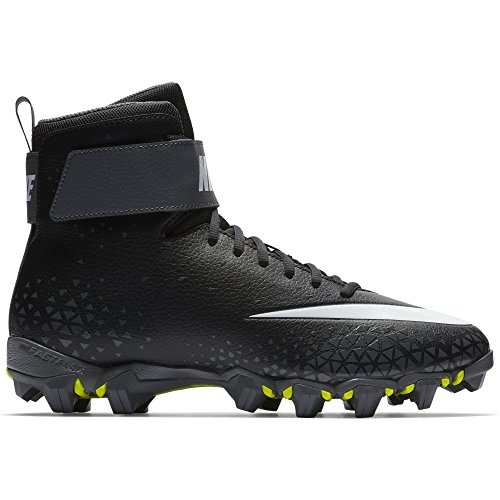 Nike Men's Force Savage Shark Football Cleat Black/White/Dark Grey Size 12 M US