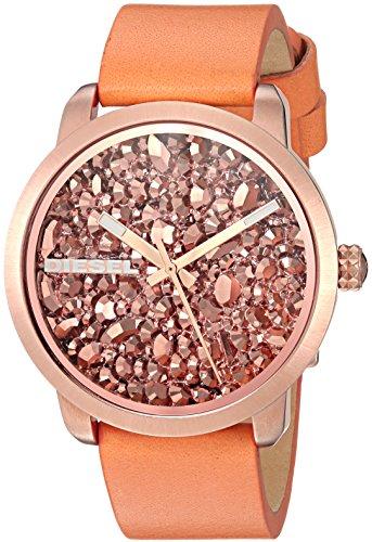 Diesel Women's DZ5552 Flare Rocks Orange Leather Watch