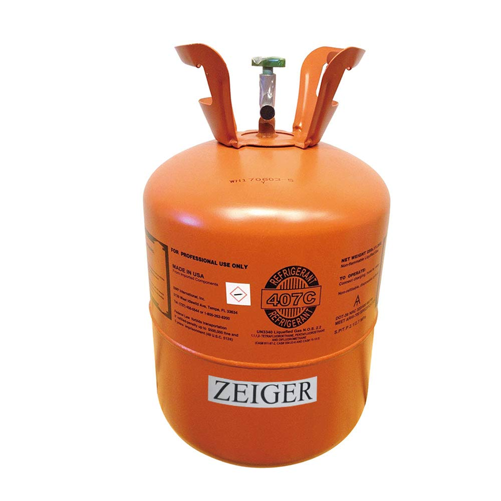 R407C, Refrigerant 407C, Full of R-407C, Net 25LB Tank, Suitable for AC/Single Unit/Multiple Connected Air Conditioning by Zeiger